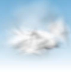 Background Blue Sky Fluffy Clouds vector image