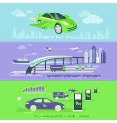 Concept of development transport infrastructure vector