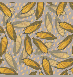 corn seamless pattern vector image