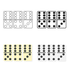 Domino icon in cartoon style isolated on white vector