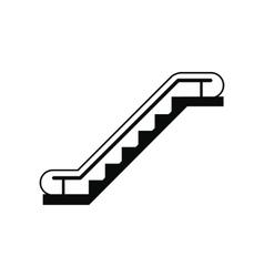 Escalator black simple icon vector