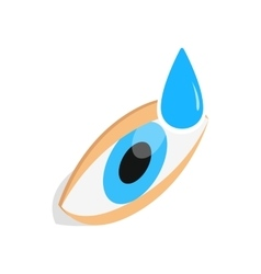 Eye drops for treatment icon isometric 3d style vector