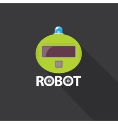 green robot head logo design vector image