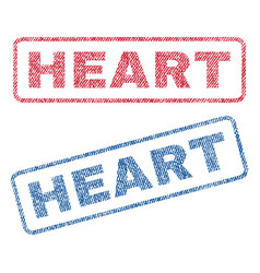 Heart textile stamps vector