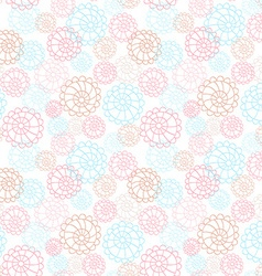 Light color seamless floral hand drawn pattern vector image vector image