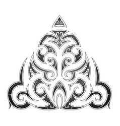 Maori style tribal art tattoo vector