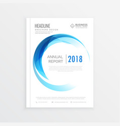 Minimal annual report cover business brochure vector