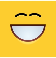 modern yellow face background vector image