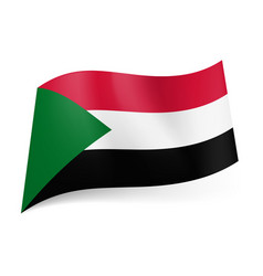 National flag of sudan red white and black vector