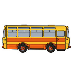 old yellow bus vector image vector image