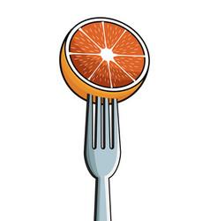 orange fork fresh image vector image