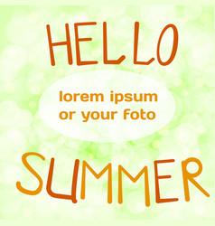 orange lettering hello vector image
