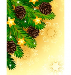 pine branches vector image vector image