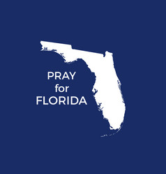 pray for florida hurricane irma natural vector image