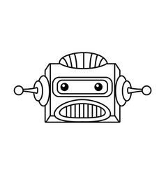 robot head electronic antenna machine vector image