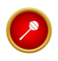 Round lollipop icon in simple style vector image vector image