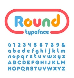 Rounded font alphabet with donut effect letters vector