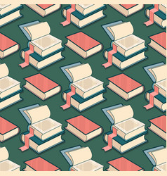 seamless pattern with book vector image