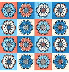set 1 floral 1 r3 vector image vector image