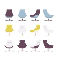 Set of rerto armchairs vector image vector image