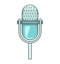 Stage microphone icon cartoon style vector