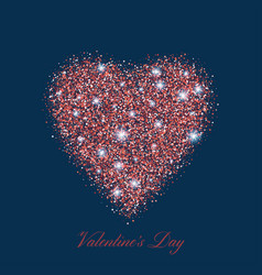 valentines bokeh heart many of transparent red vector image
