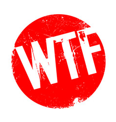 Wtf rubber stamp vector