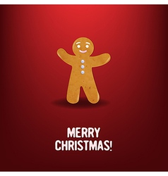 Xmas cookies with red background vector