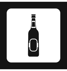 Bottle of beer icon simple style vector
