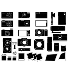 Photo cameras and stuff for photography vector