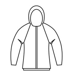 Sweatshirt icon outline style vector