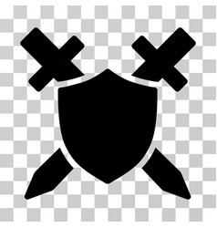 Guard shield icon vector