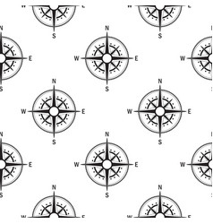 Seamless pattern compasses vintage vector