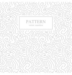 Curve seamless pattern in memphis style vector