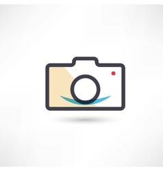 Black digital cam icon vector