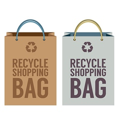 Recycle paper bag vector