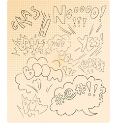 Comics inscription collection vector