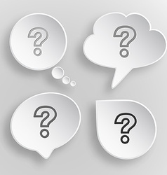 Query white flat buttons on gray background vector