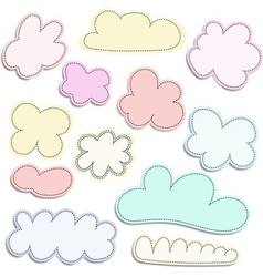 Flat design cloudscapes collection vector