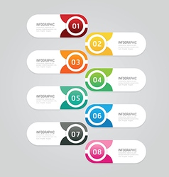Infographics design options template banner vector