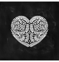 Hand drawn heart with branches vector