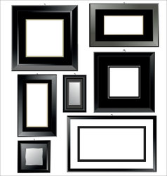 Black frames vector