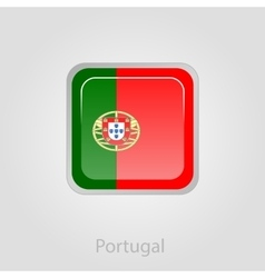 Portugal flag button vector