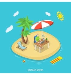 Distant work isometric flat concept vector