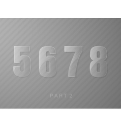 Numbers made of glass transparent classic numeral vector