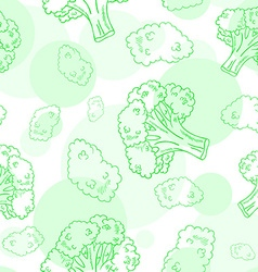 Seamless pattern with broccoli vector