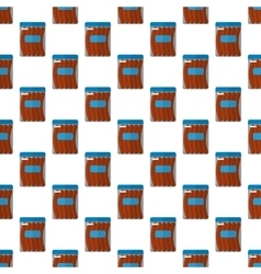 Sausage package pattern seamless vector