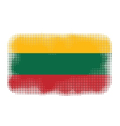 Lithuania flag halftone vector