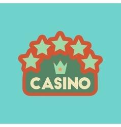 Flat icon stylish background poker casino sign vector