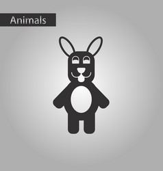 Black and white style icon rabbit bunny vector